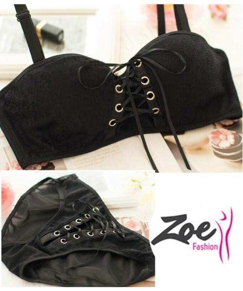 Zoey Princess Style Super Push Up Lace Strappy Women Bra Set
