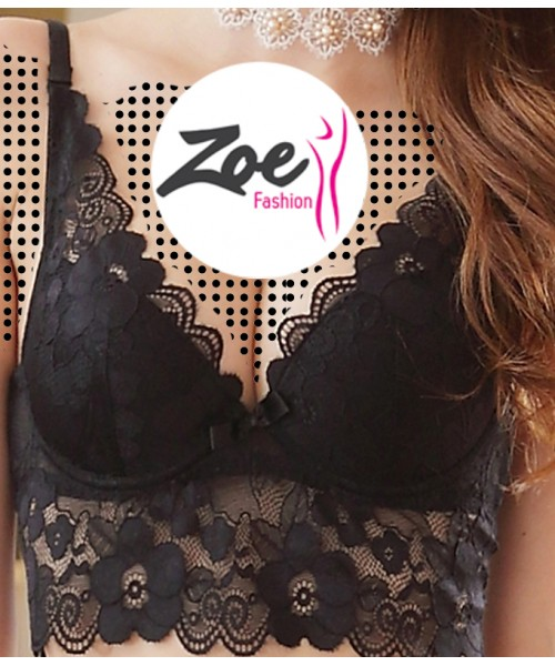 Zoey Non Padded with Ring French Lace Bra Panties Set Thin Underwear Lingerie Set