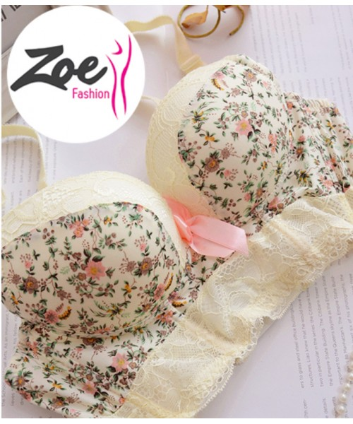 Zoey high quality French Lace embroidery bra set