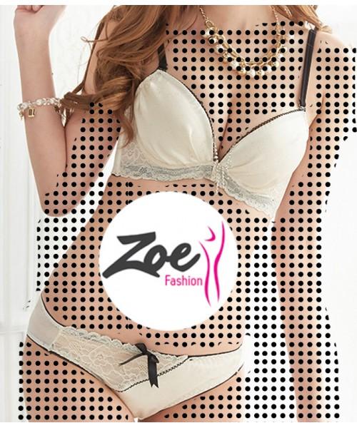 Zoey Fancy Bridal Princess Style Women Bra Set