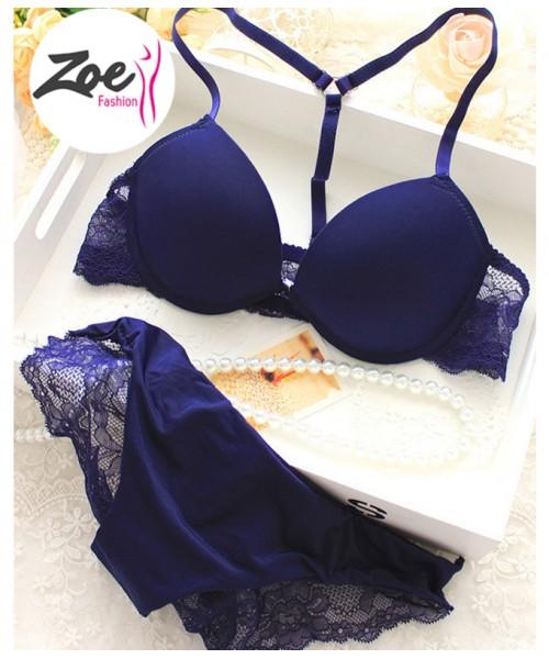 Zoey New Elegant Women Bras Underwear Lady Victoria bra brassiere,Y-line Straps Front Closure