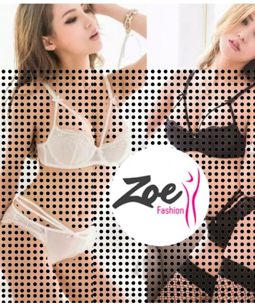 Zoey 2016 Women Lace Shear Net Underwear Suit Embroidery Lingerie Bra Sets