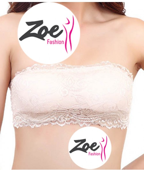 Zoey Special Offer Removable Pads Floral Everyday Cinderela Women's Lace Casual Crop Tube Top Bandeau Strapless Bra