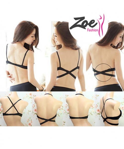 Zoey Hot Selling Lingerie Deep U Low Cut Push Up Women Backless Invisible Convertible Bra