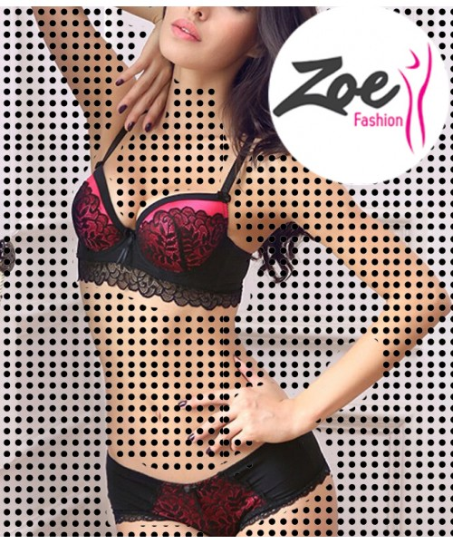 Zoey Plus Size Elegant luxury and romantic lace push up Bra sets for women