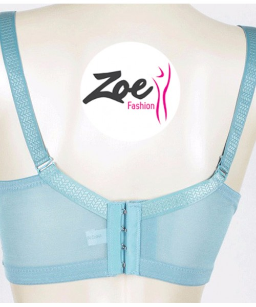 Zoey New Fashion Women Thin Lace Non Padded Brassiere Full Cup Plus Size Bra