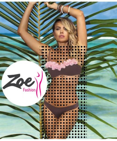 Zoey Luxury Hot Women Push-Up Tube Top Padded Bikini Bathing Beachwear Swimwear Slim Set