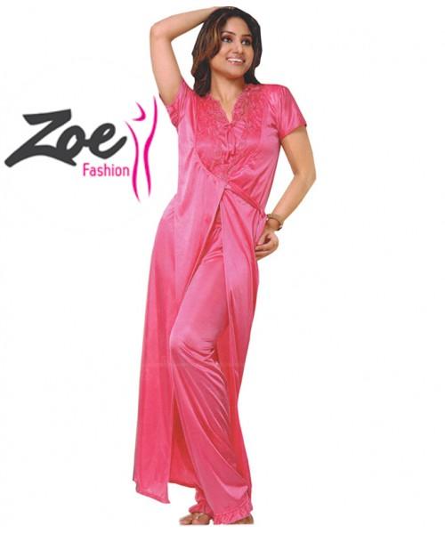 Zoey Full Length Bridal Long Stylish Imported Div Brand Silk Nighty
