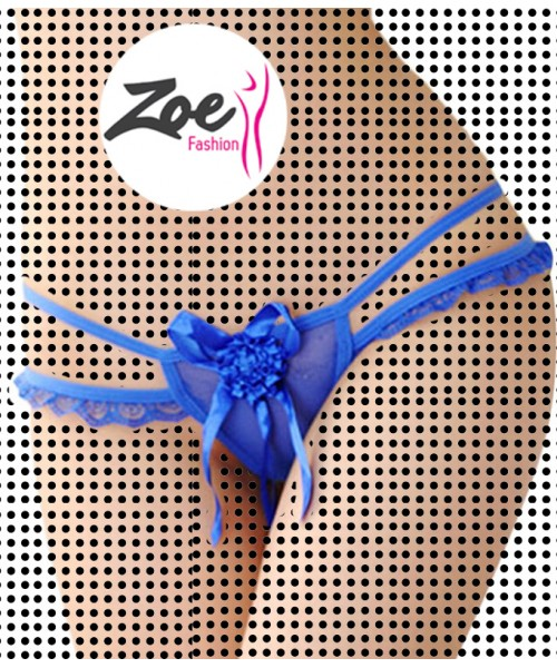 Zoey Women Front Rose Thongs G-string V-string Panties Knickers Lingerie Underwear