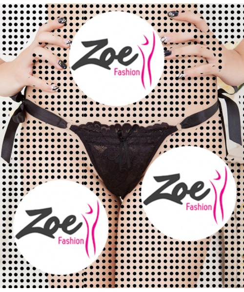 Zoey Lace Panties Open String Underwear G String And Thongs for Girls and Women