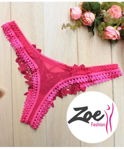 Zoey Women Floral Thong Underwear Lace Briefs Panties Lingerie G-strings
