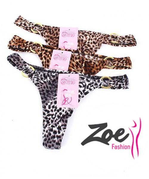 Zoey Cozy Women Leopard Thong G-string Panties Briefs Exotic Lingerie Underwear