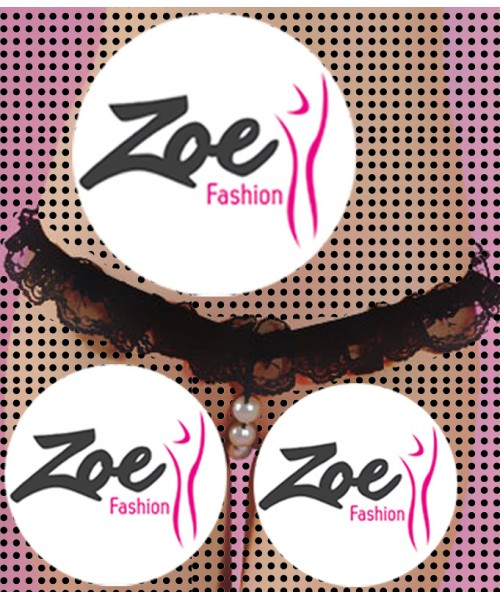 Zoey Hot Womens Open Crotch Lace Thong with Pearls G String Beading Panties Lingerie