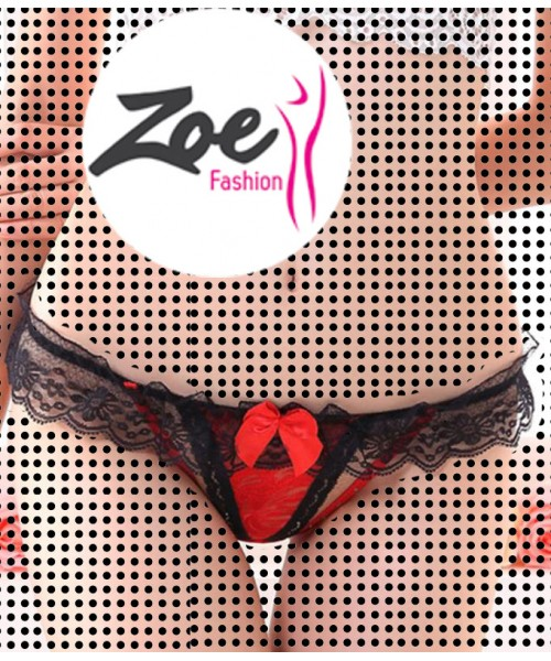 Zoey Hot Selling Open Thong Intimates Panties Breathable Women Lingerie Underwear