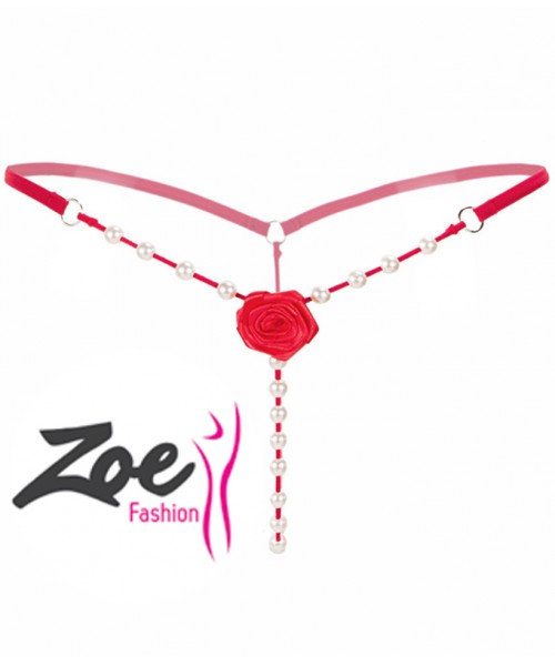 Zoey Ladies Lace Open Burned Crotch V-string Panties Knickers Underwear Thong