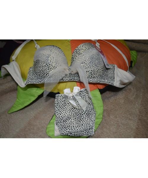 Zoey Cheetah Pattern Fancy Bra set