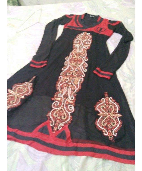 Charming Black Embroidered Suit