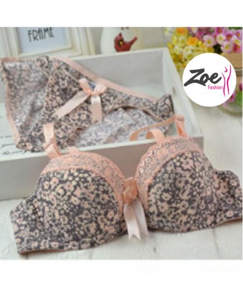 Zoey Fancy Bridal Lace Bra panty Set