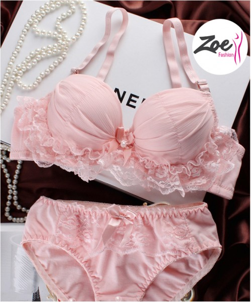 Zoey Fancy Frill Bra set
