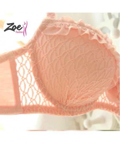 Zoey Fancy Ruffle Lace Bra Set