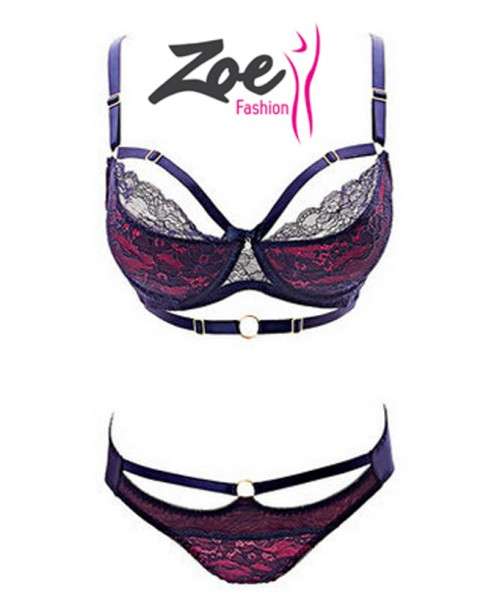 Zoey Intimate Lingerie Strap Style Fancy Bra Set