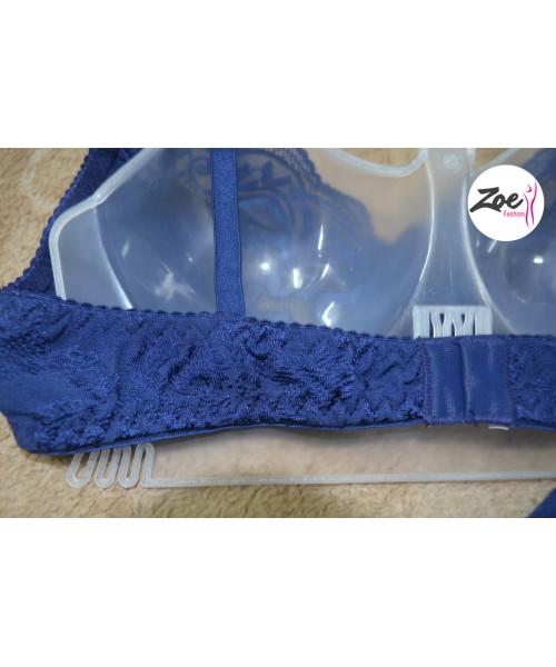 Zoey Body Care Blue Lady Net Bra set