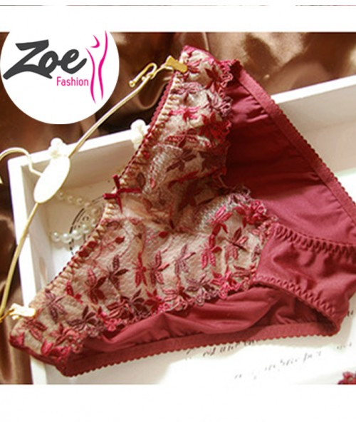 Zoey Women Underwear Transparent embroidery Lace Bra sets panties